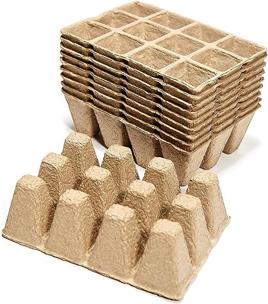 Ministar - Bandejas para plantar, 10 unidades, biodegradables ...