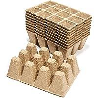 MINISTAR Plántulas de iniciación bandejas, [10 Piezas] biodegradables