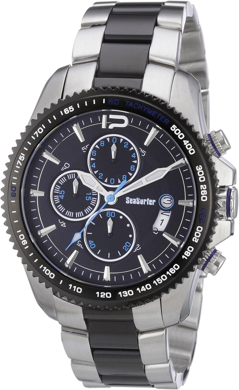 Sea Surfer 1630,4096 - Reloj analógico de Cuarzo para Hombre, Correa de Acero Inoxidable Chapado Multicolor