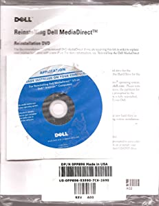 CD for Reinstalling Dell MediaDirect Reinstallation 3.5 on Dell Inspiron Computers