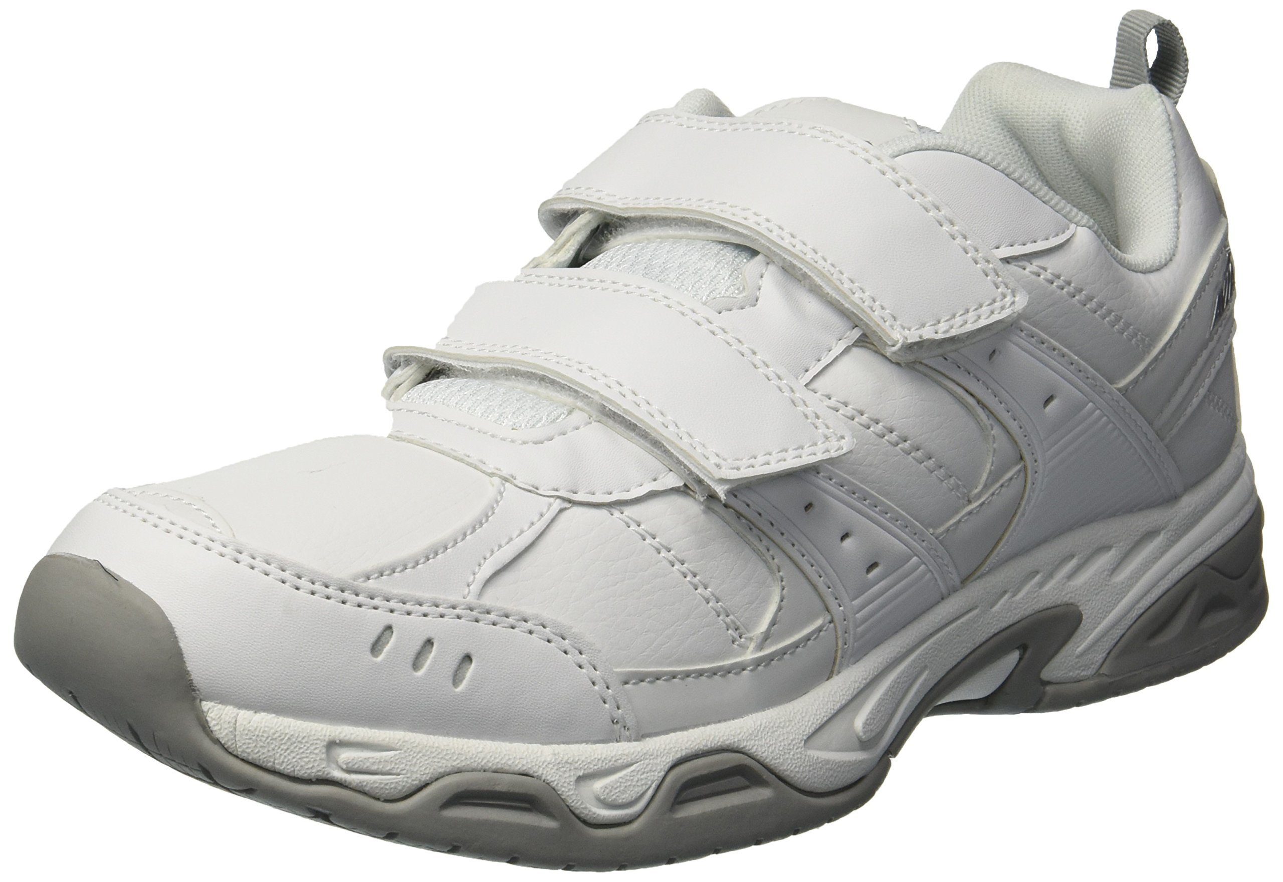 Avia Men's Avi-Union II Strap Food Service Shoe, White/Chrome Silver, 11.5 Medium US by Avia