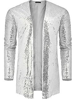 1e7934548 Amazon.com: Forum Novelties Men's Disco Sequin Blazer-Silver W ...