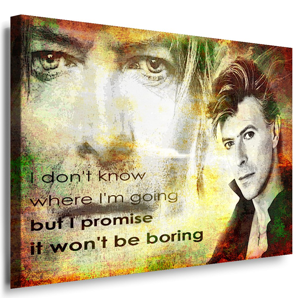 Julia-art Leinwandbilder - David Bowie Bild 1 teilig teilig teilig - 80 mal 60 cm Leinwand auf Rahmen - sofort aufhängbar   Wandbild XXL - Kunstdrucke QN.55-4 e70c4e