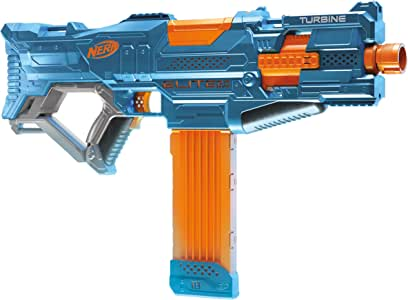 Hasbro E9482 Nerf Elite 2.0 Turbine CS 18 Motorised Blaster, Customisable, Incl 36 Official Nerf Darts, 18 Dart Clip, Tactical Rails & Barrel Attachment Point, Kids Toys & Outdoor Games, Ages 8+