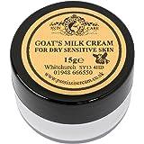 Leche de cabra Crema Hidratante 15 G por Elegance Natural Skin Care para Psoriasis Eczema piel seca…