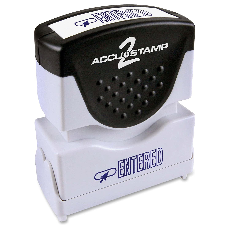 Cosco ACCUSTAMP 2シャッタースタンプpre-inked 1色メッセージスタンプwith Microban Protection ,入力 B009G9PGSM