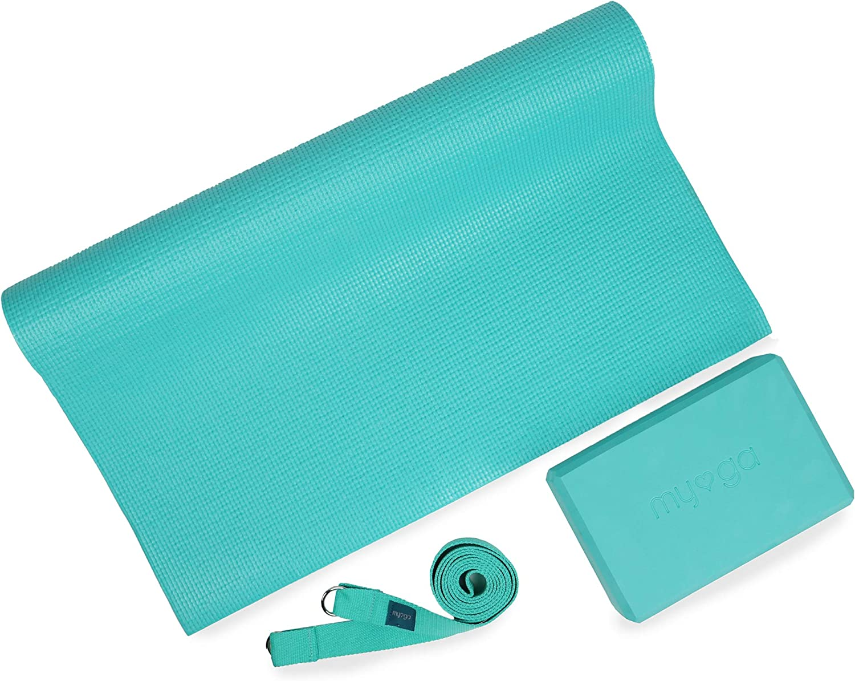 Ceinture et Sling Th/és/ée Myga Chakra en li/ège Tropical Tapis MYOGA Yoga Starter Kits