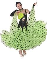 Pobofashion Maßgeschneidertes Damenkleid für moderne Turniertänze/Tango/Walzer, Ganzkörperkleid-modernen Tanz Kleid