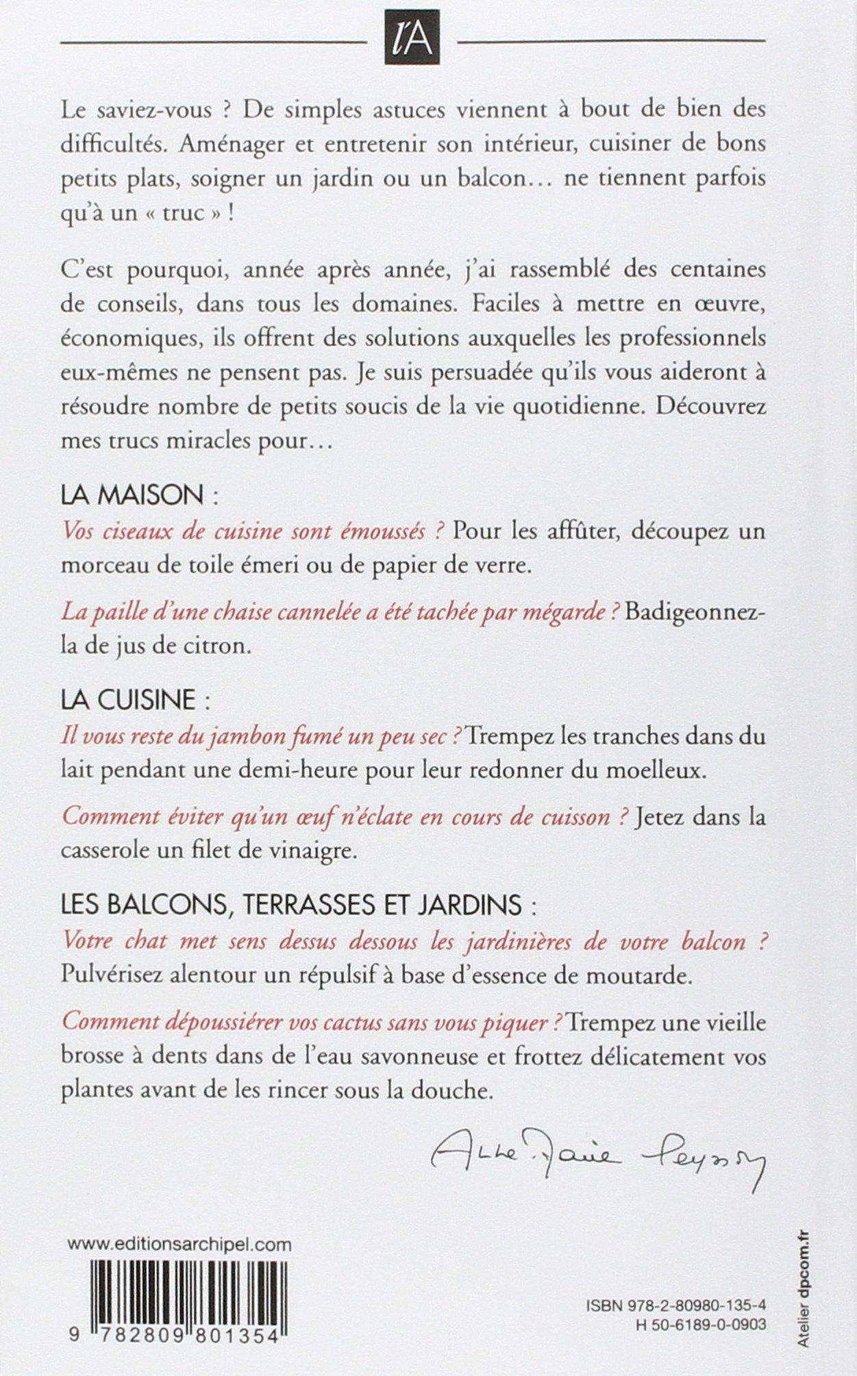 Amazon.fr - 1001 Trucs et astuces de nos grand-mères - Anne-Marie Peysson -  Livres