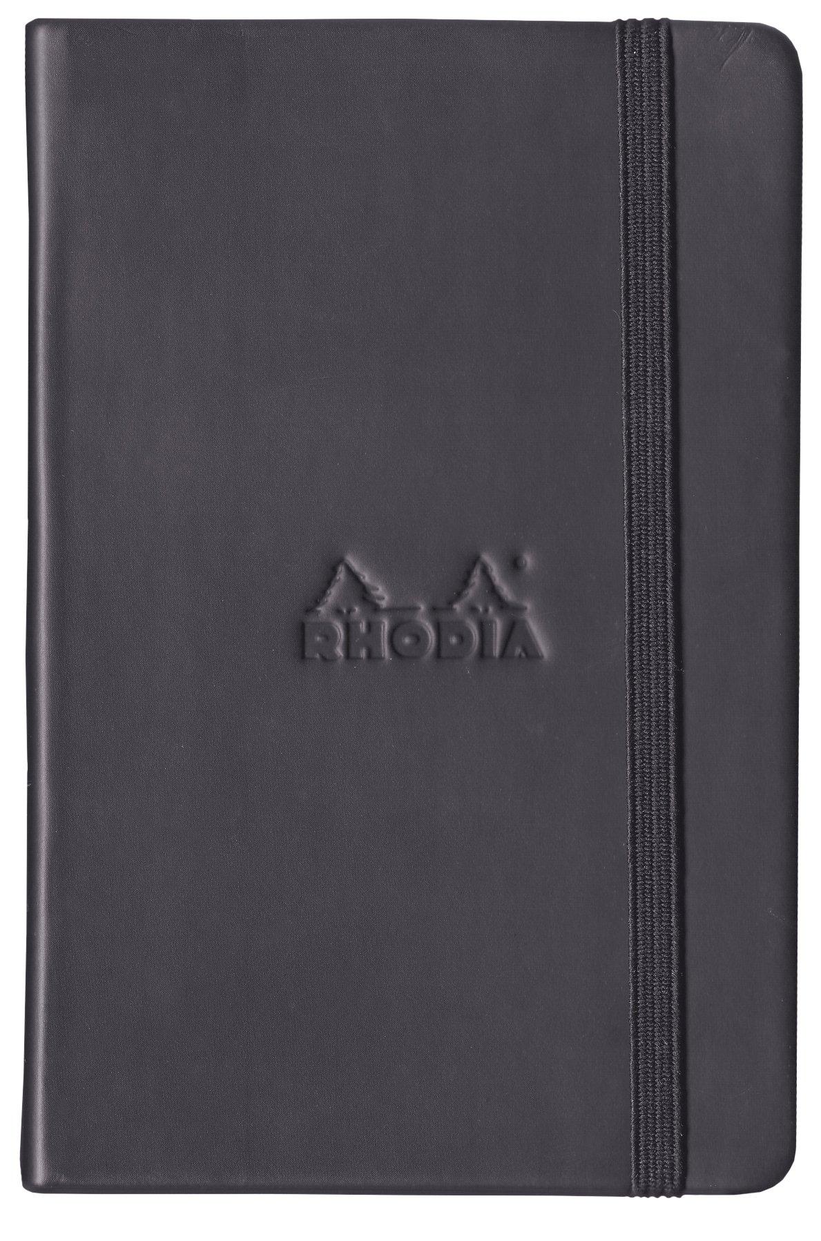 Rhodia Black Webnotebook, Dot Grid, 5.5X8.25 Inch by Rhodia