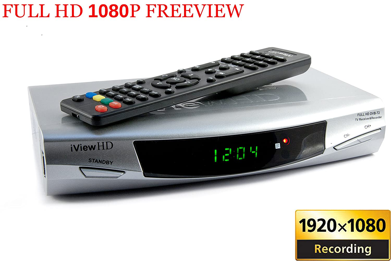 HDMI 1080p Freeview Digital TV Receiver Tuner Set Top Digi Box Terrestrial + USB and SD Slot TV Schedule Program Recorder + MP4 MKV H.264 Multi Media Video ...