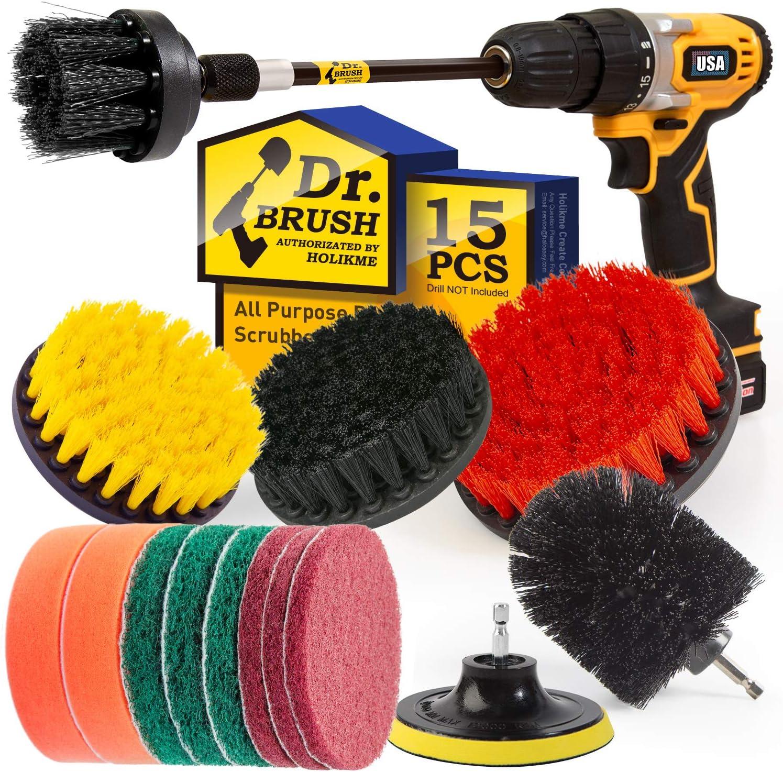 Holikme 15Piece Drill Brush Attachments Set