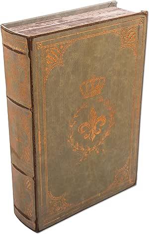 """'Libro Caja, caja de regalo """"Fleur De Lis en piel de"""
