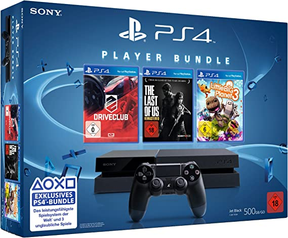 Sony PlayStation 4 + DRIVECLUB, LittleBigPlanet 3, The Last of Us ...
