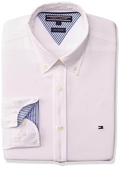Tommy Hilfiger Ivy Oxford Chemise Casual Homme, Blanc