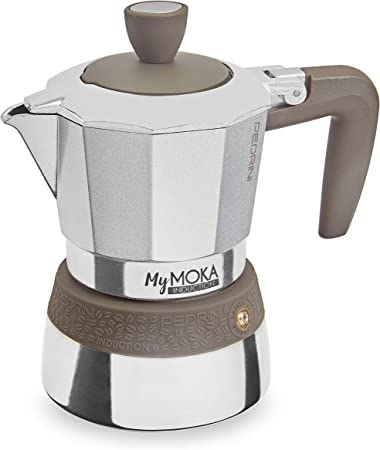 Pedrini MyMoka - Cafetera de inducción Inducción Mymoka 3 Tazze TóRTOLA: Amazon.es: Hogar
