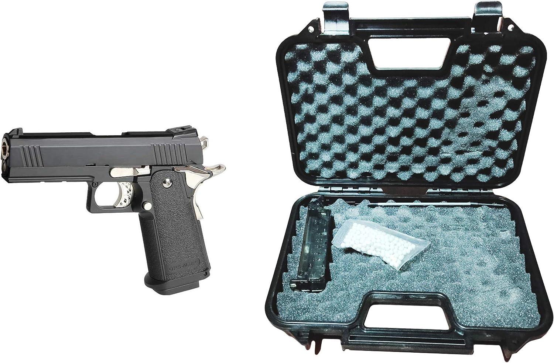 GOLDEN EAGLE Pistola Gas HI-Capa 4.3 GBB con maletín