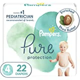 Diapers Size 4, 22 Count - Pampers Pure Protection Disposable Baby Diapers, Hypoallergenic and Unscented Protection, Jumbo Pa