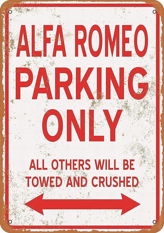 "Lplpol Metal Sign - ALFA Romeo Parking ONLY - Vintage Wall Decor Art 12"" x 18"""