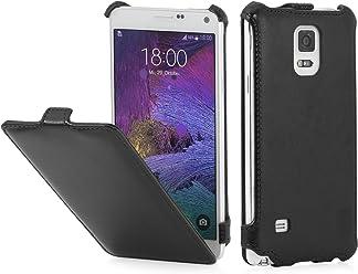 StilGut Slim Case, custodia per Samsung Galaxy Note 4, nero vintage