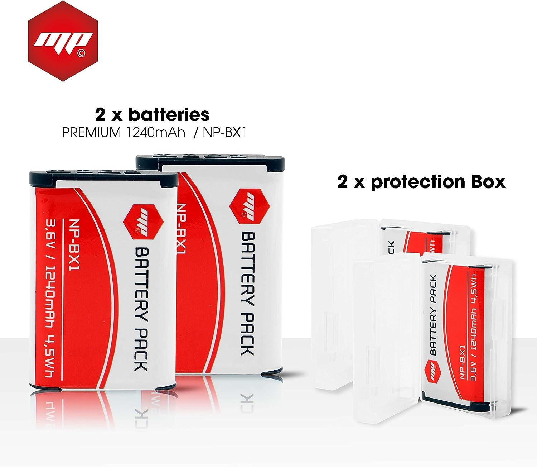 2 x batteries np bx1 , NPBX1 pour SONY (PUISSANCE 1240mAH