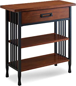 Leick 11261 Ironcraft Foyer Bookcase with Drawer Storage