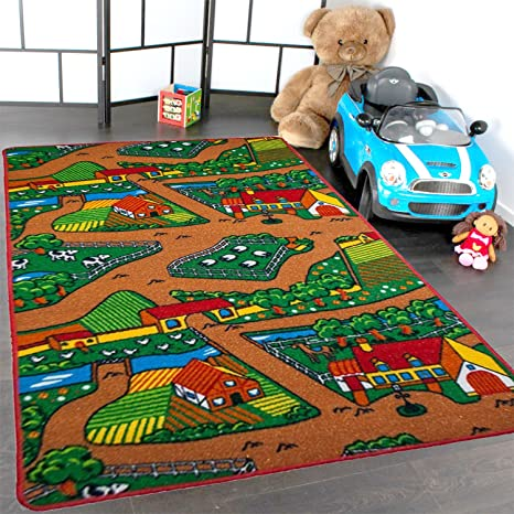 Amazon Com Kids Rug Farm Area Rug 3 X 5 Children Area Rug For