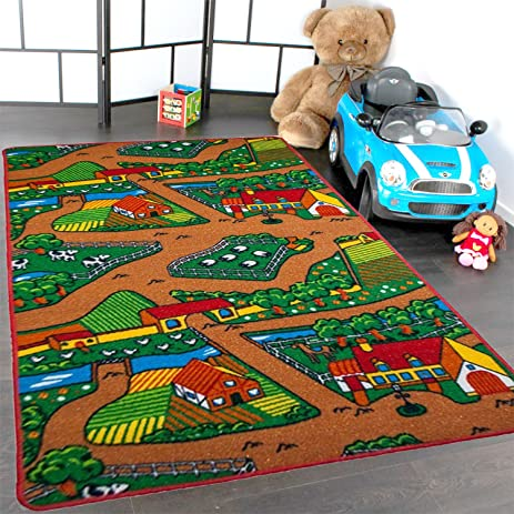 Kids Rug Farm Area Rug 3u0027 X 5u0027 Children Area Rug For Playroom U0026