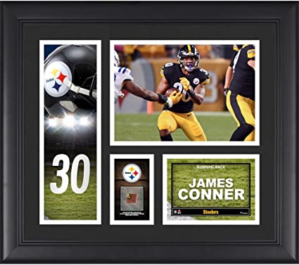 James Conner Pittsburgh Steelers Framed 15 quot  x 17 quot  Player Collage  with a Piece of 800430ec6
