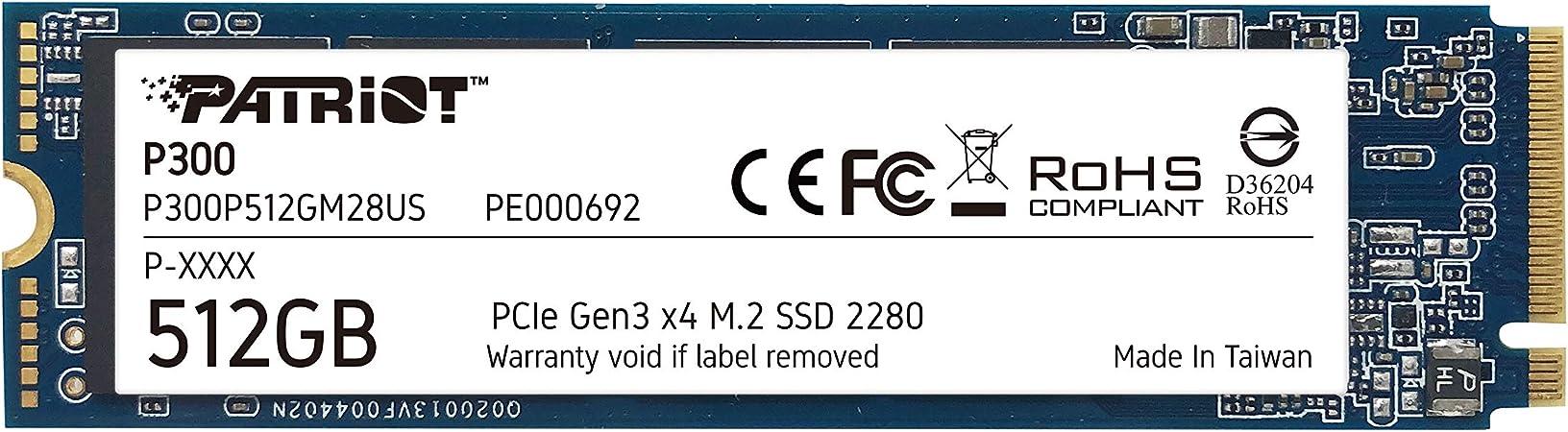 Patriot P300 M.2 Pcie Gen 3 x4 512GB SSD de bajo Consumo: Amazon ...