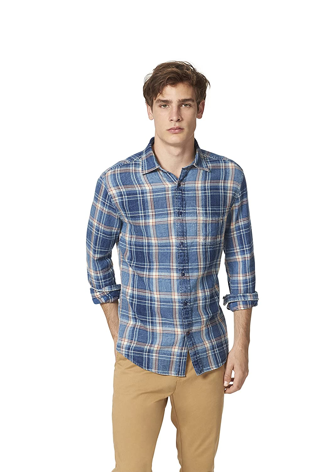 Tommy Hilfiger Men's 1-Pocket Battery Plaid Shirt 8814391