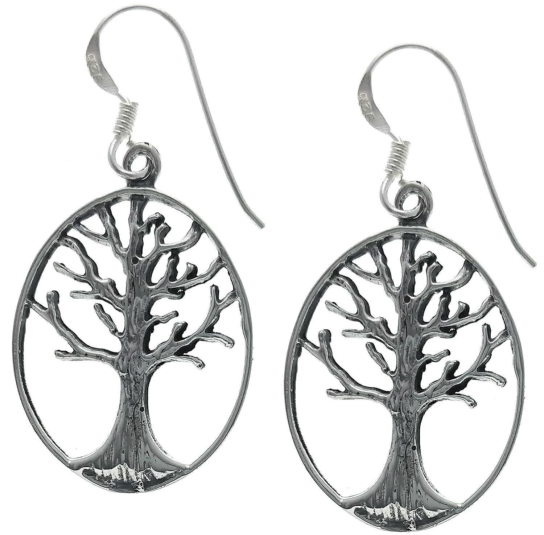 1b2b2d3fa Amazon.com: Sterling Silver Tree of Life Dangle Earrings: Jewelry