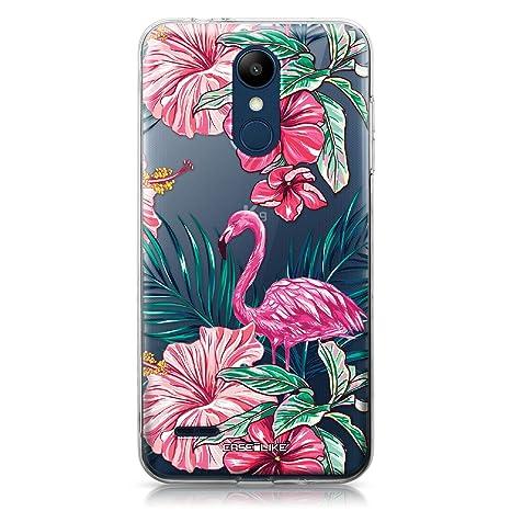 CASEiLIKE® Funda LG K8 2018, Carcasa LG K8 2018, Flamenco Tropical 2239, TPU Gel Silicone Protectora Cover