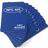 Pack 10 tarjetas inteligentes NFC Ntag216 de 888 bytes.