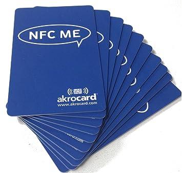 Pack 10 Tarjetas Inteligentes NFC Ntag 216 de 888 Bytes. Compatible con Amiibo, namiio, maxlander, Tagmo…