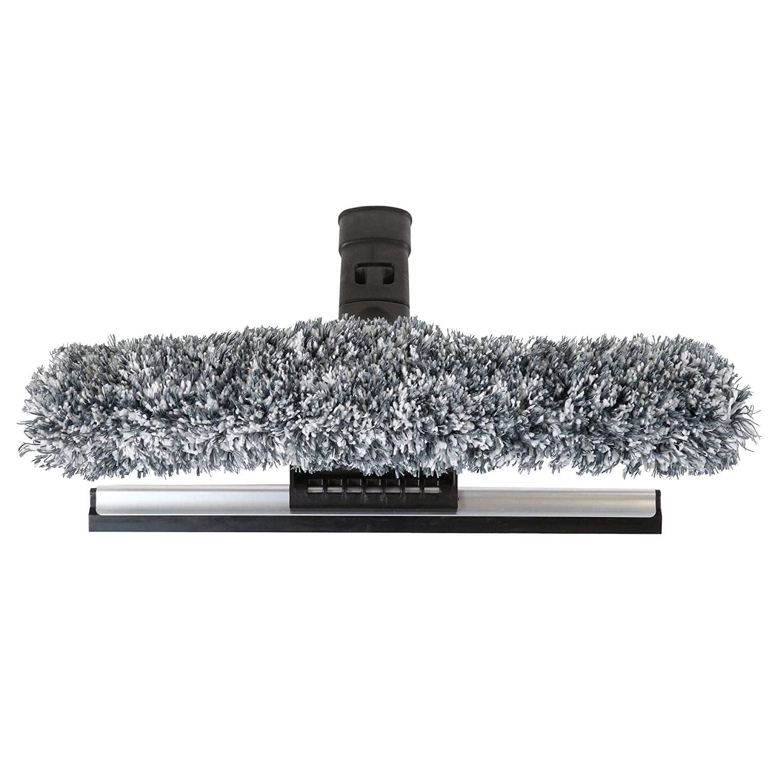 """SWOPT 12"""" Combination Squeegee Head – Squeegee Blade with Detachable Microfiber Scrubbing Pad Ideal for Cleaning Windows and Glass Surfaces – Interchangeable with Other SWOPT Products for More Efficient Cleaning and Storage Head Only Handle Sold Separatel"""