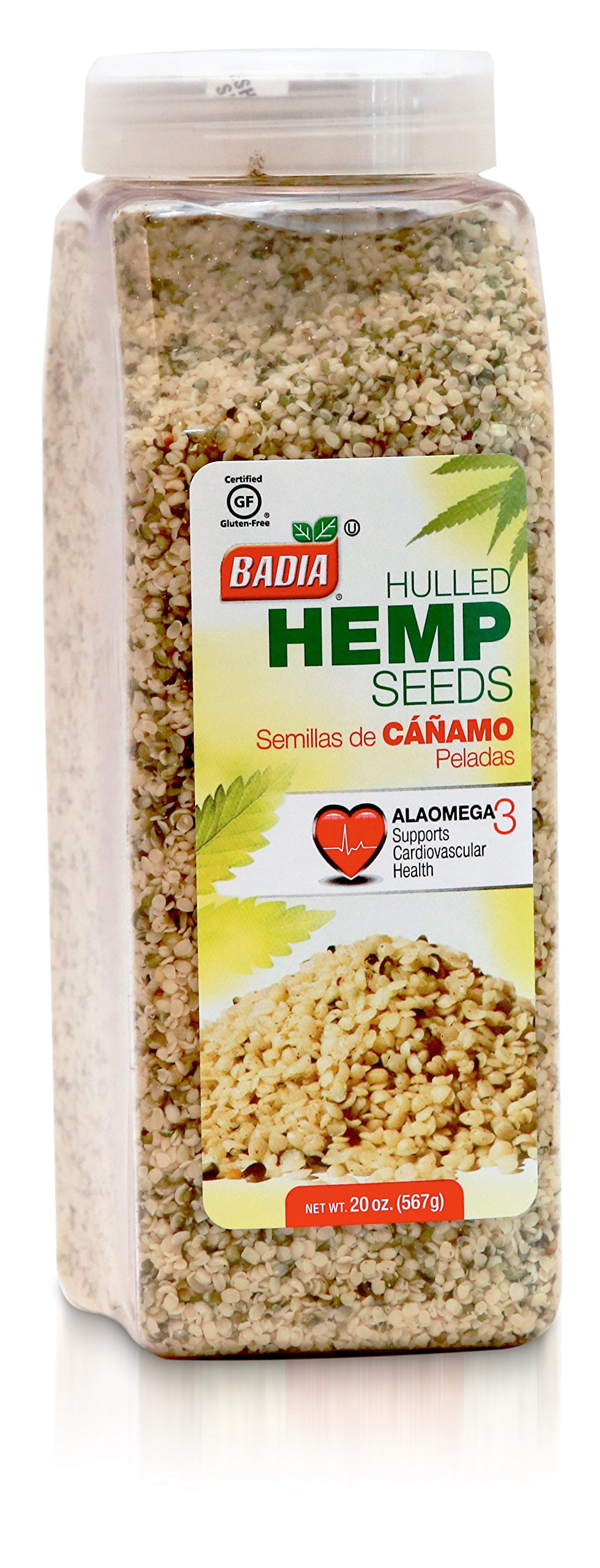 Badia Hulled Hemp Seed, 20 Ounce