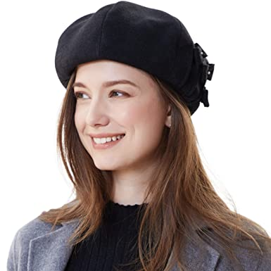 Image Unavailable. Image not available for. Color  677888 Painter Hat for Women  Beret Autumn Winter ... d5ecaa632cb