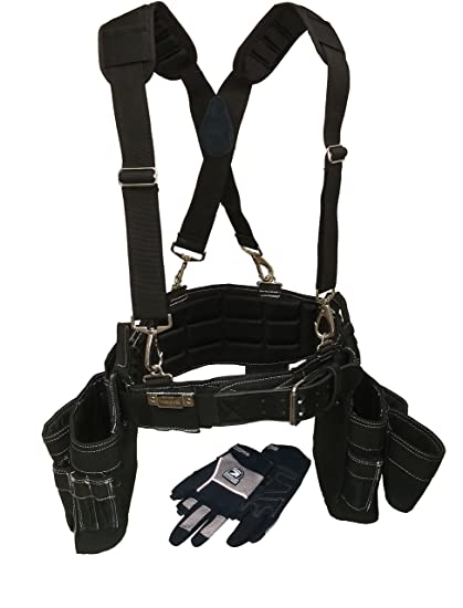 gatorback professional carpenter's tool belt deluxe package (tool ...