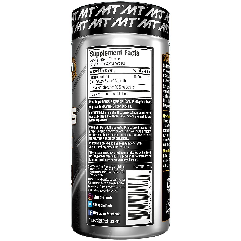 Muscletech Essential Series Platinum 100% Tribulus Standard - 100 Cápsulas: Amazon.es: Salud y cuidado personal