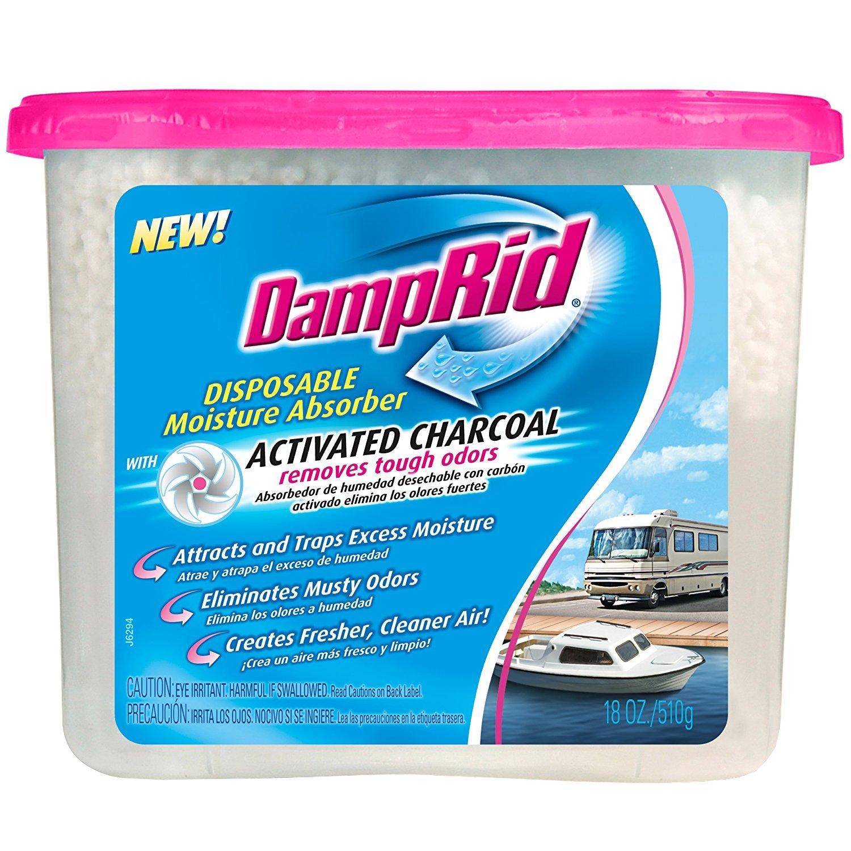 DampRid FG118RV Moisture Absorber, Charcoal RV, 18-Ounce (3)