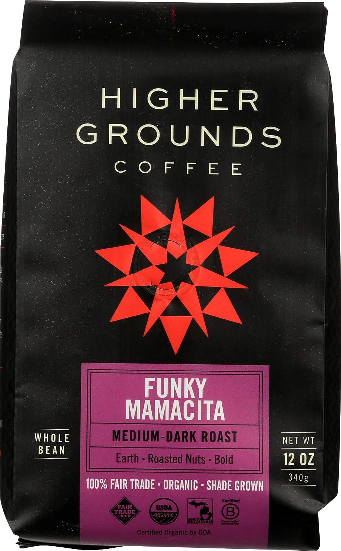 Higher Ground Roasters, Coffee Funky Mamacita Blend Organic, 12 Ounce