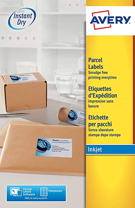 Avery España J8165-25 - Pack de 25 Folios de Etiquetas para envíos ...