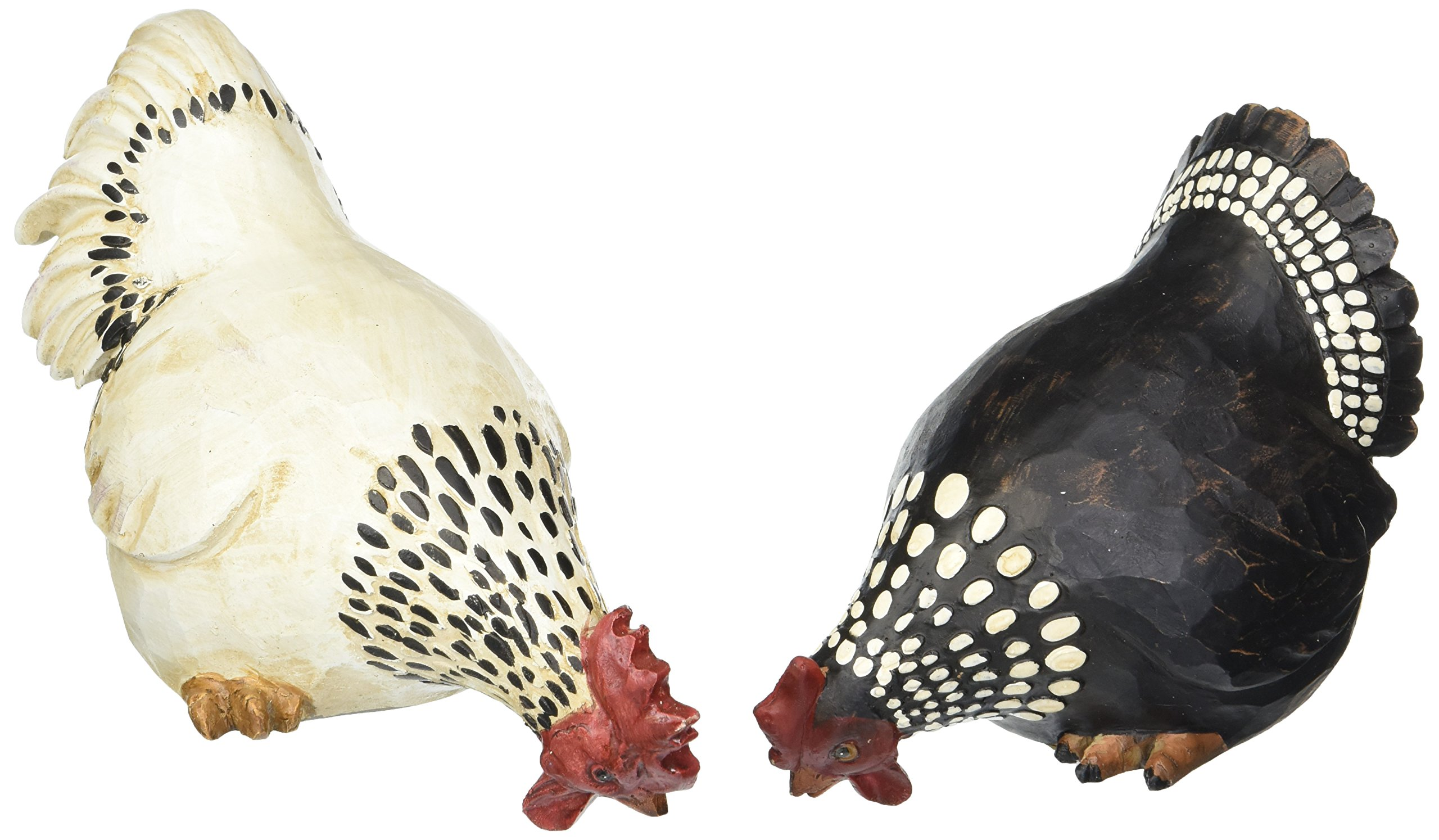 Abbott Collection 27-BW/570 Peering Rooster & Hen (Set of 2) by Abbott Collection
