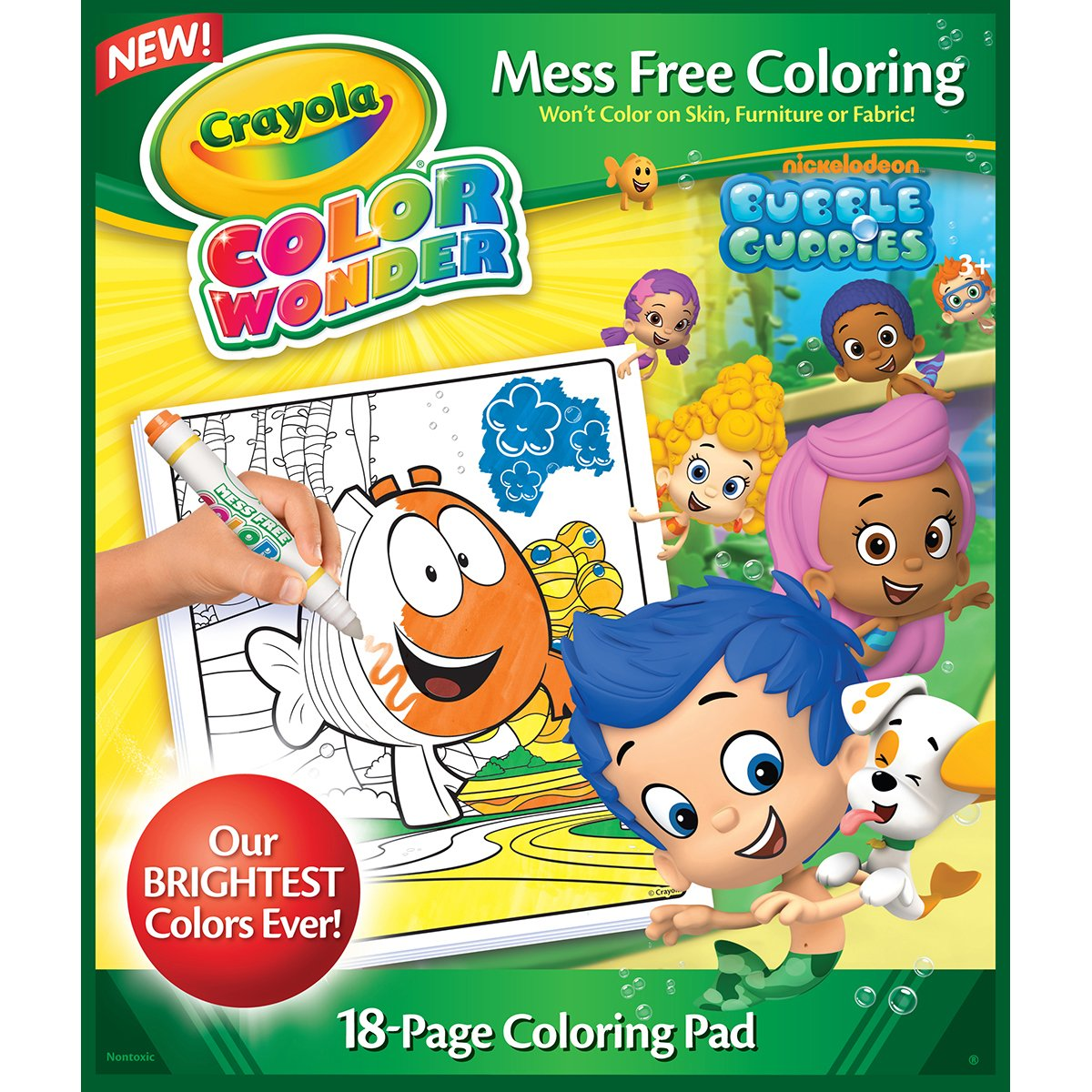 amazoncom crayola bubble guppies color wonder refill book toys games