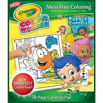 Amazon.com: Crayola Bubble Guppies Color Wonder Refill Book: Toys ...