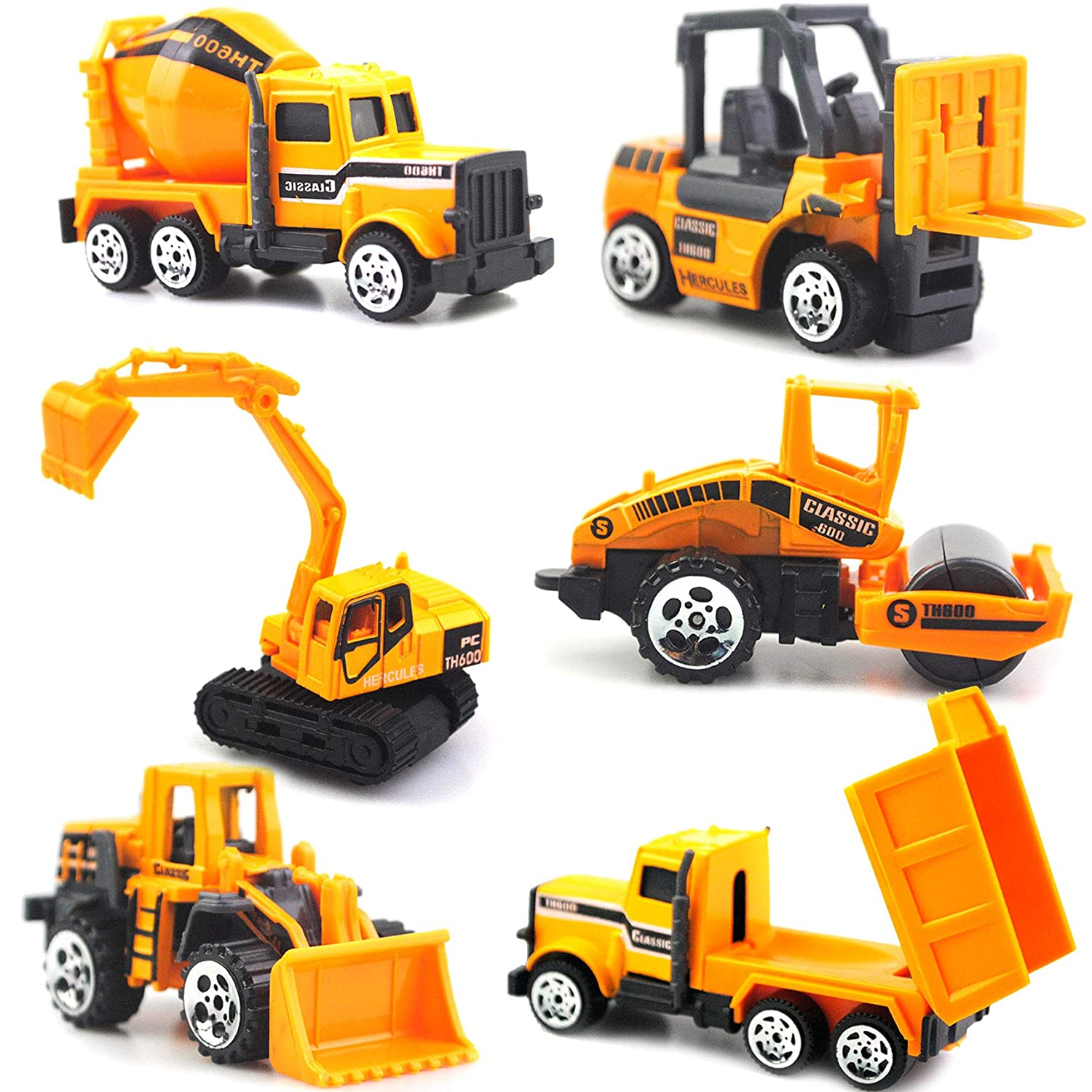 Construciton Engineering Vehicle Models,Pack of 6 Present Gift Children Zontlink Limited Zontlink Toy Vehicles Cars Trucks