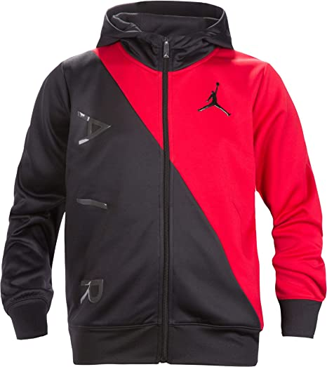 a5c12ee8735 Amazon.com: Jordan Air Boys Youth Therma-Fit Zip Hoodie Jacket Size M, L,  XL (Small (8-10yrs)): Clothing