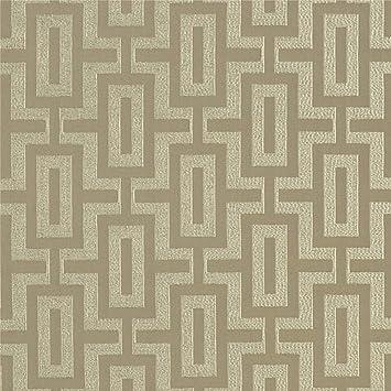 Amazon Com Linen Neutral Contemporary Geometric Modern Damask