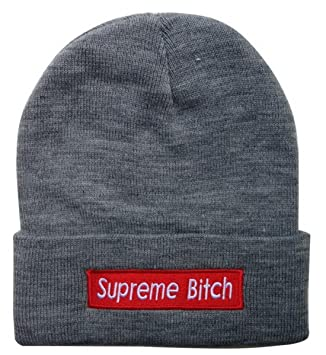 Mosekse Adjustable Supreme Bitch Snapback Knit Cap for Unisex One Size –  Gorro de Lana para fd2908b3582